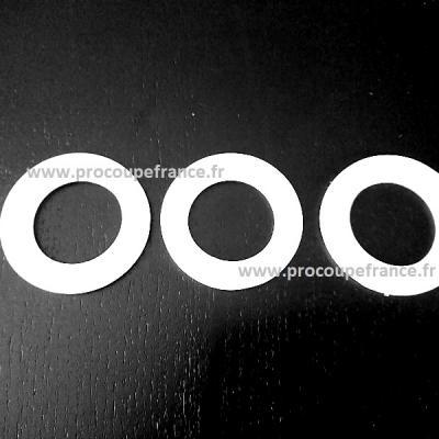 Bolduc autocollant 6mm blanc 10m