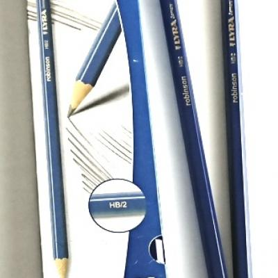 Crayon graphite lyra avec gomme boite de 12