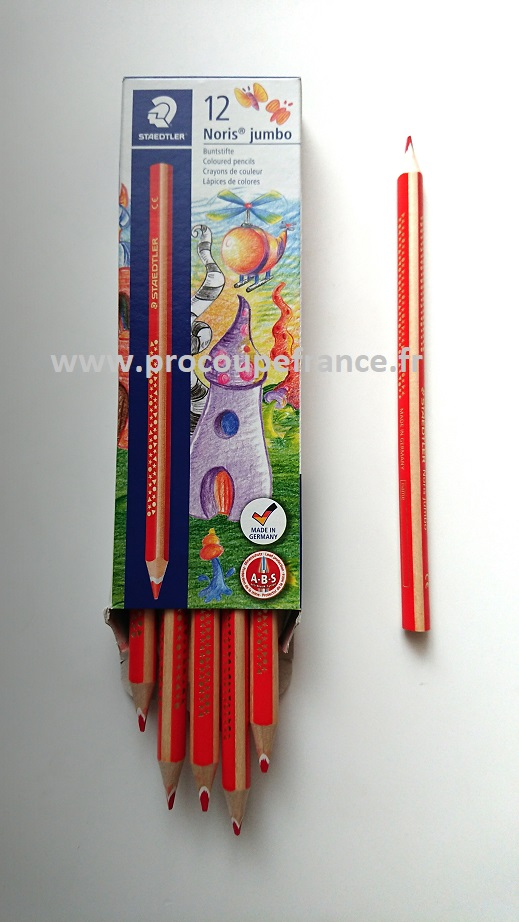 Crayon a tissus rouge jumbo staedtler