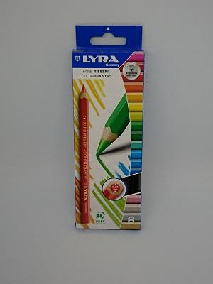 Crayon lyra geant assorties x6
