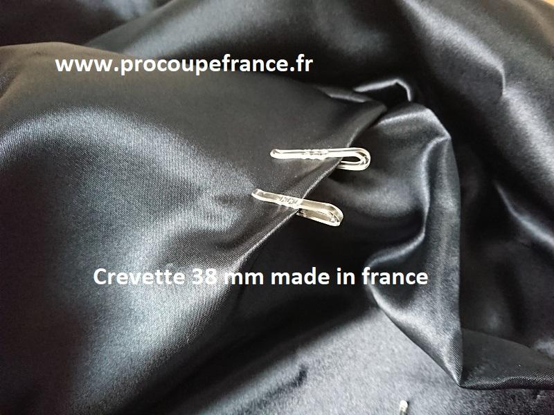 Crevette made in france 38mm plastique