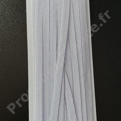 ELASTIQUE PLAT 6,5MM BLANC - CARTE DE 10M