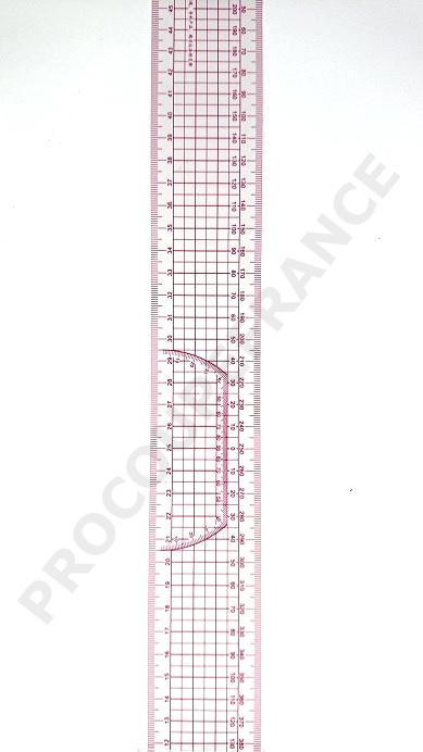 Regle souple 50cm graduee quadrillage simple