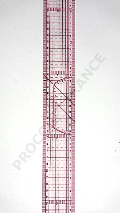 Regle souple 50cm marquage triangle et croisee 8003