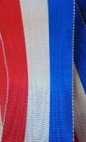Ruban moire bleu blanc rouge
