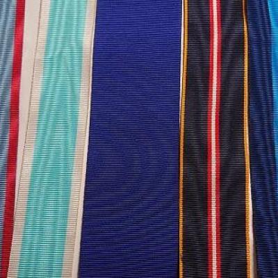 Ruban moire tricolor